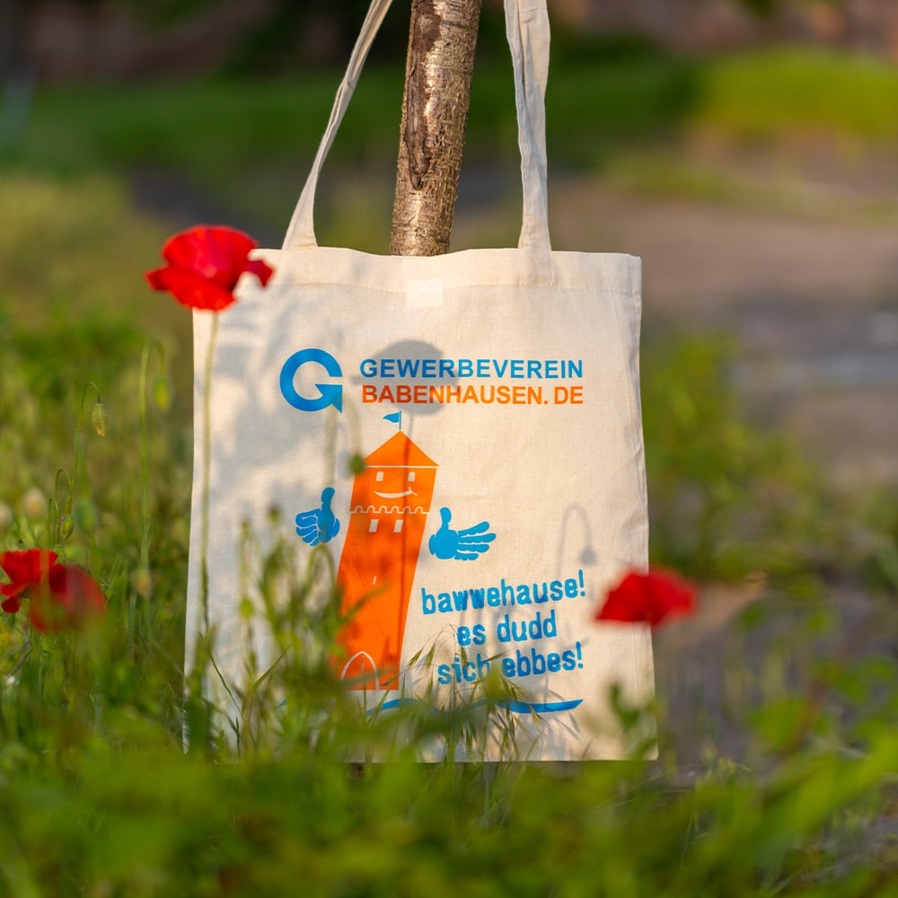 Fabric bag for the Babenhausen trade association