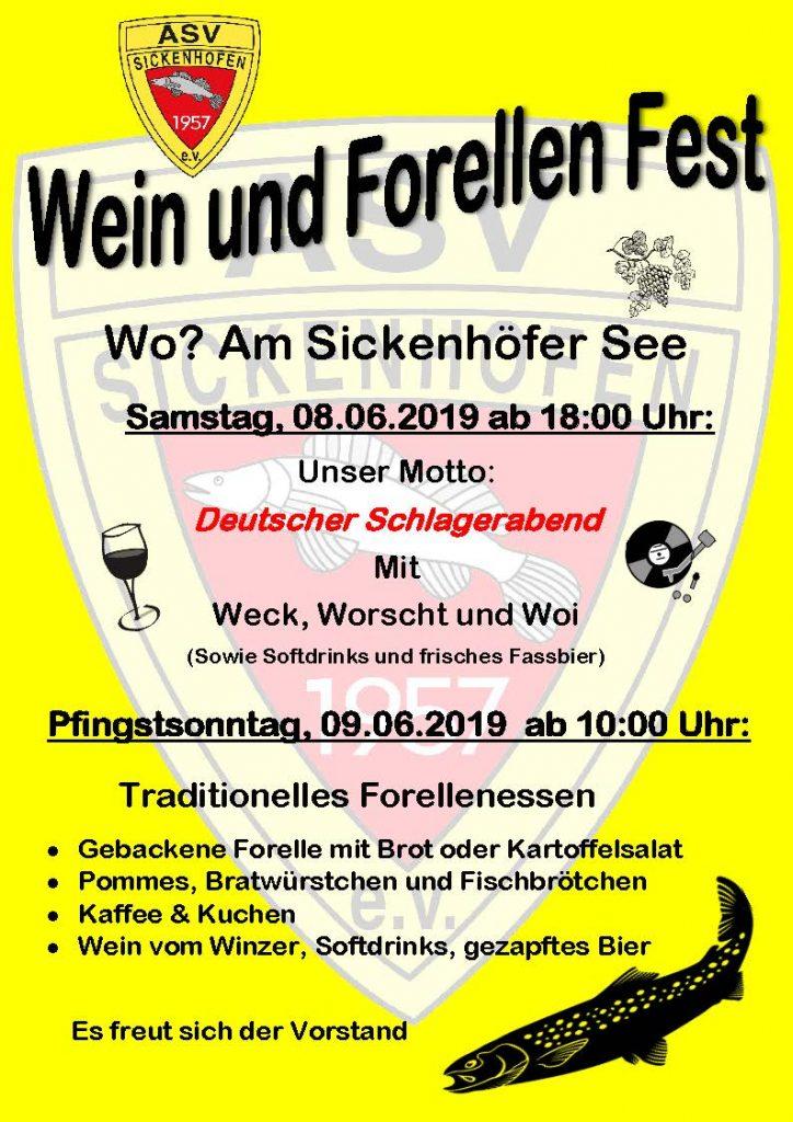 Wein Forellenfest ASV Sickenhofen