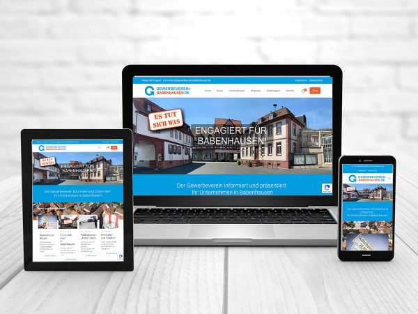 Neue Webseite Gewerbeverein