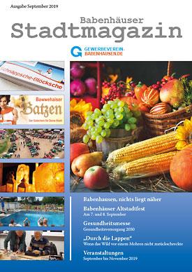 City magazine Babenhausen September 2019