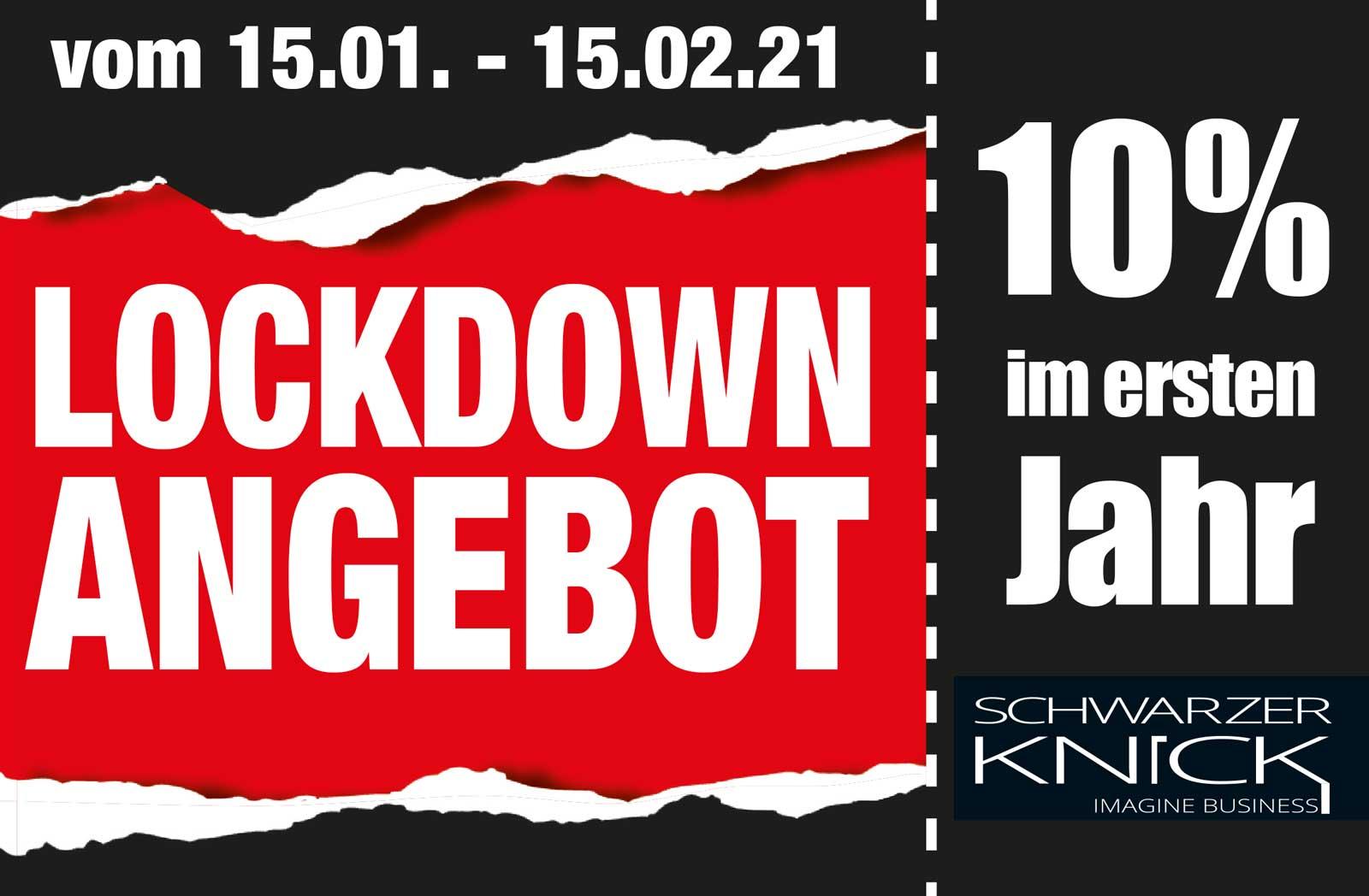 Lockdown Angebot Schwarzer-Knick